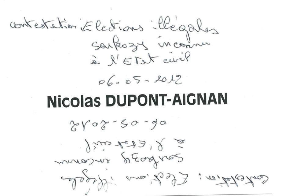 Contestation Election Illegale De Nicolas Sarkozy Dossiers Sos Justice